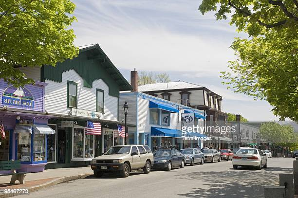 american small town - maine stock pictures, royalty-free photos & images