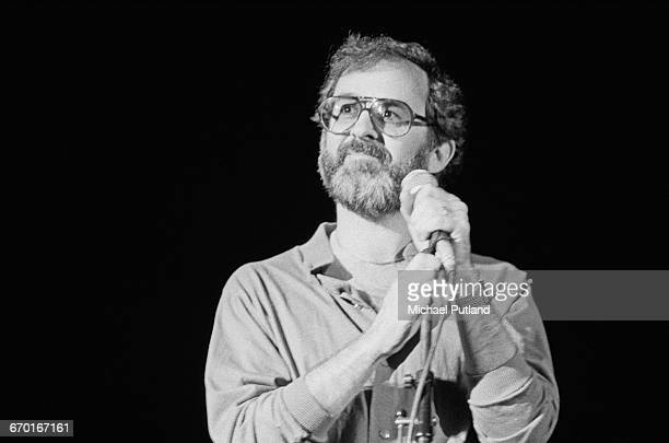 American smooth jazz keyboard player composer and arranger Bob James performing on stage 1982