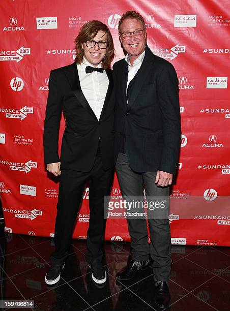 American snowboarder Kevin Pearce and Dr Alan Weintraub attend 'The Crash Reel' Premiere at Rose Wagner Performing Arts Center on January 18 2013 in...