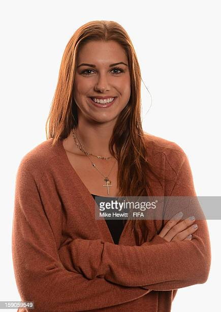 American soccer player and Olympic gold medalist Alex Morgan poses for a portrait prior to the FIFA Ballon d'Or Gala 2012 at the Kongresshaus on...