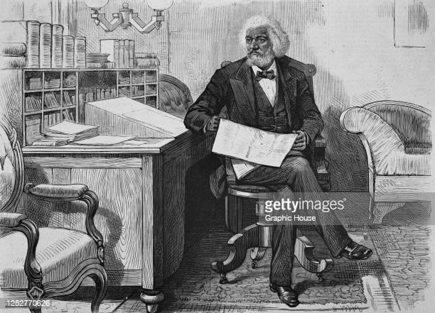 American social reformer and abolitionist Frederick Douglass , circa 1880.