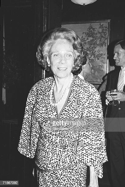 American socialite and author Brooke Astor attends a party at Mortimer's restaurant in honour of the Knopf published book 'DV' by Diana Vreeland New...