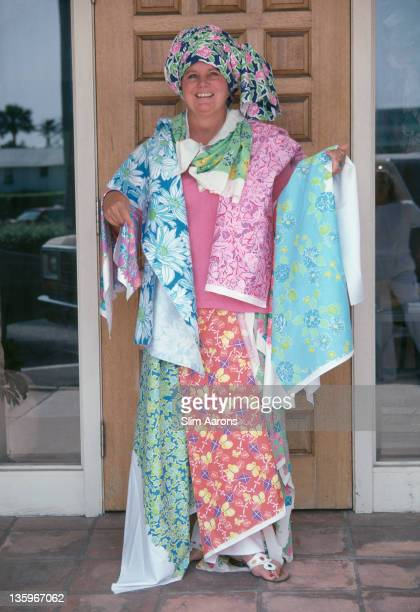 American socialite and fashion designer Lilly Pulitzer April 1982