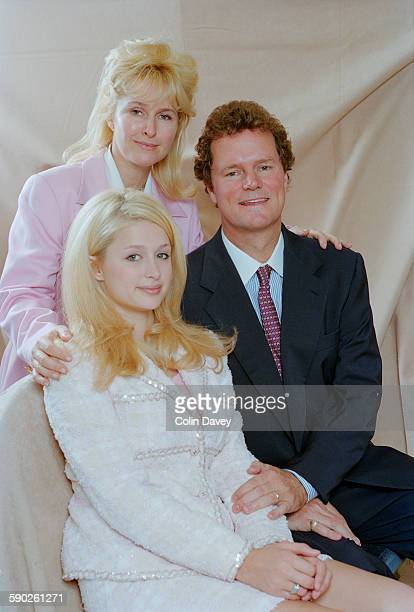 American socialite and television personality Paris Hilton with her parents Kathy and Richard Hilton 5th July 1996