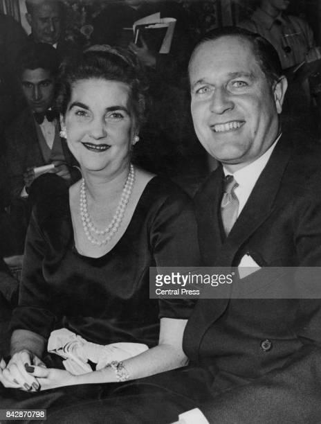 American socialite Barbara Hutton with German tennis star Gottfried von Cramm circa 1956