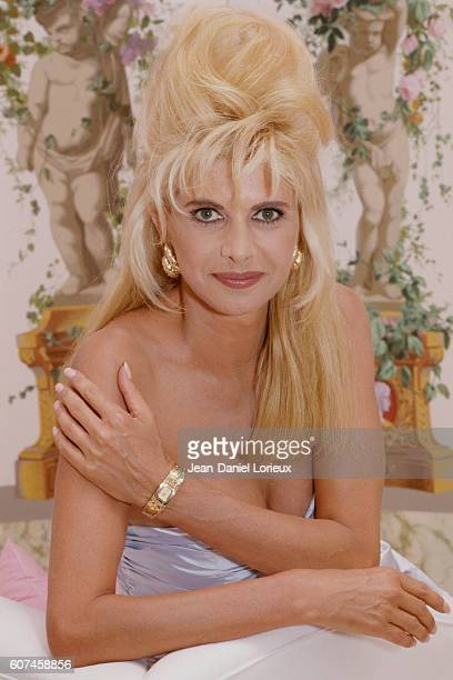 American socialite Ivana Trump wife of mogul Donald Trump at the Century Plaza Hotel they own