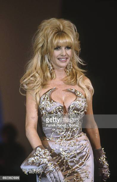 American socialite Ivana Trumpon the catwalk at the 1992 Thierry Mugler Spring/Fall collection Paris 17th October 1991 She is the wife of American...