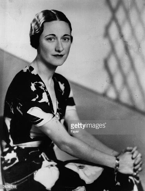 American socialite Wallis Simpson a week before King Edward VIII abdicated She became Duchess of Windsor in June 1937 after her marriage to Edward...