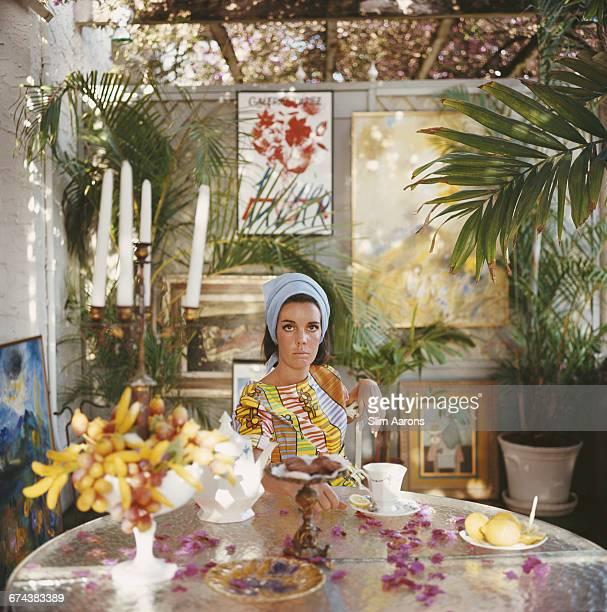 American socialite Wendy Vanderbilt at home in Palm Beach Florida USA 1964