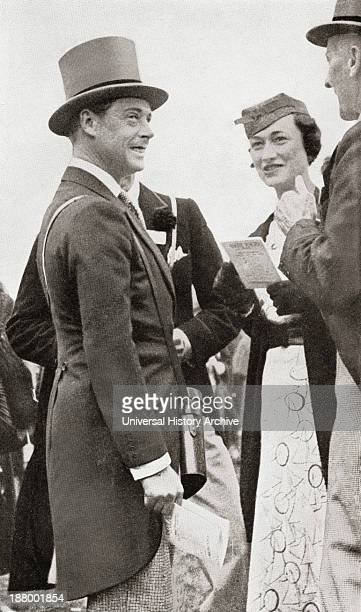 American Socialite Whose Third Husband Prince Edward Duke Of Windsor Formerly King Edward Viii Abdicated His Throne To Marry Her From Edward Viii His...