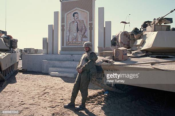 American Soldier at Border of Kuwait and Iraq