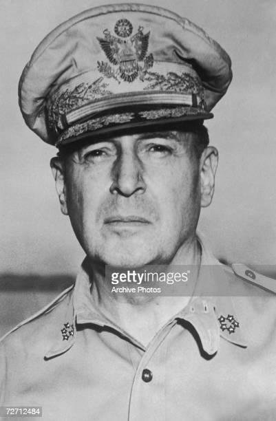 American soldier General Douglas MacArthur Supreme Commander of Allied forces during World War II 31st August 1945