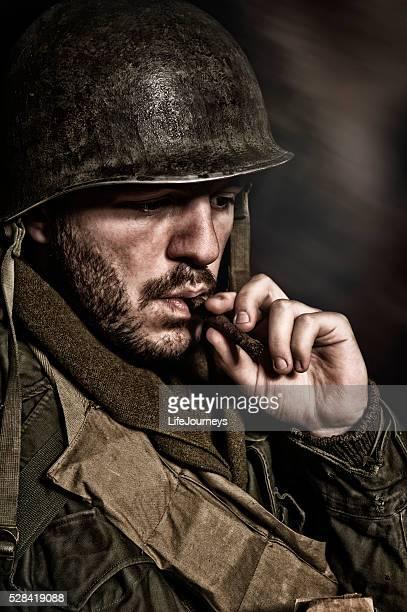 a segunda guerra mundial nos soldado americano retrato - objetivo militar - fotografias e filmes do acervo