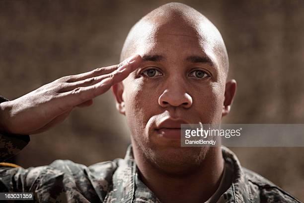 American Soldier Saluting
