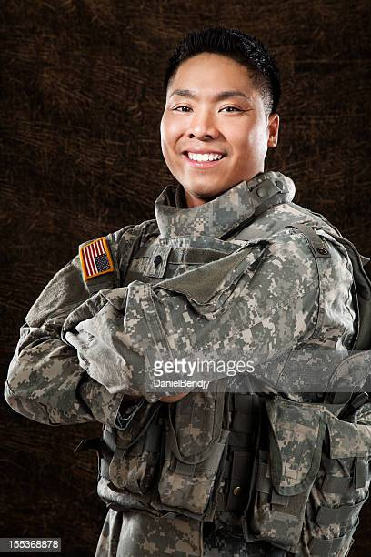 American Soldier Smiling