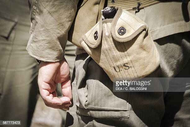 American soldier's flask Second World War 20th century Historical reenactment