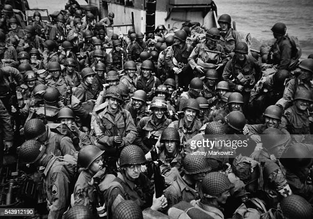 American soldiers invade the beaches of Normandy in June 1944