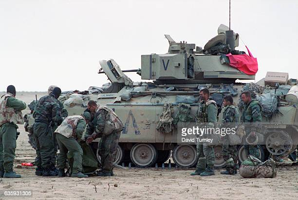 American Soldiers Next to a Tank