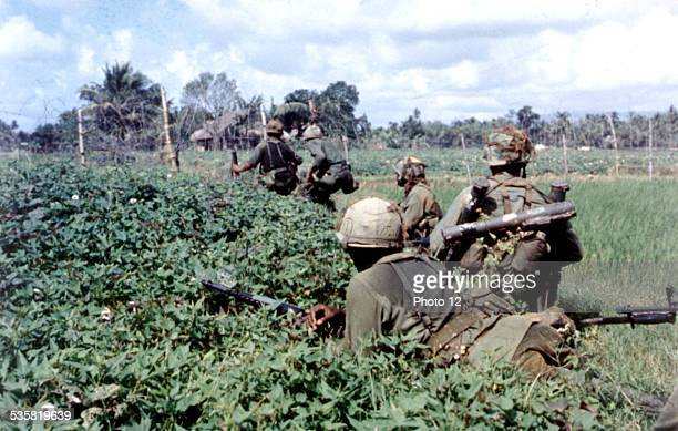 American soldiers on a reconnaissance mission 20th century Vietnam War US Army
