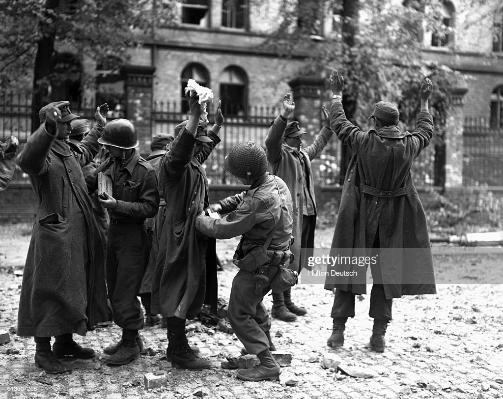 American Soldiers Take Prisoners, 1944 : News Photo