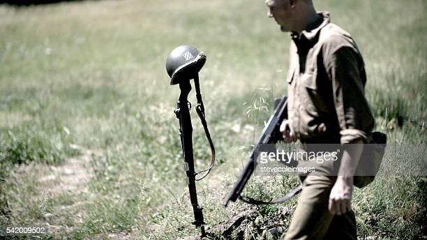 Soldat américain et la mort.