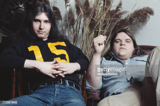 American songwriter and producer Jim Steinman posed together with singer Meat Loaf in USA March 1978 Steinman and Meat Loaf collaborated with...