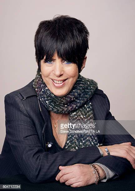 American songwriter Diane Warren poses for a portrait at the BAFTA Los Angeles Awards Season Tea at the Four Seasons Hotel on January 9 2016 in Los...