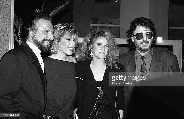 American songwriting partnerships Gerry Goffin and Carole King and Barry Mann and Cynthia Weil backstage at a Songwriters' Academy event at the...