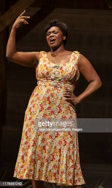 American soprano Angel Blue performs at the final dress rehearsal prior to the premiere of the new Metropolitan Opera Dutch National Opera and...