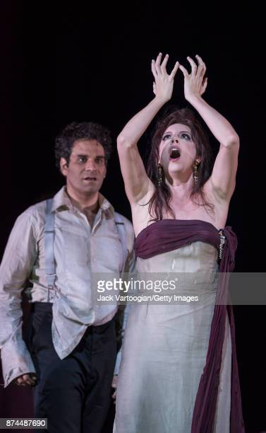 American soprano Audrey Luna performs at the final dress rehearsal prior to the US premiere of 'The Exterminating Angel' at the Metropolitan Opera...