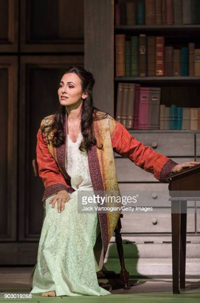 American soprano Isabel Leonard performs during the final dress rehearsal prior to the season premiere of the Metropolitan Opera/Sir Richard Eyre...