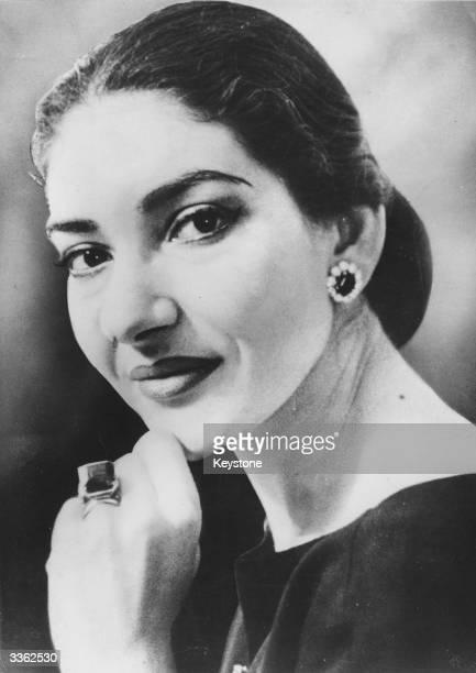 American soprano Maria Callas real name Maria Anna Sofia Cecilia Kalogeropoulos.