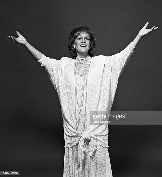 American soprano Marni Nixon famous for dubbing lead actresses in movie musicals photographed in June 1988