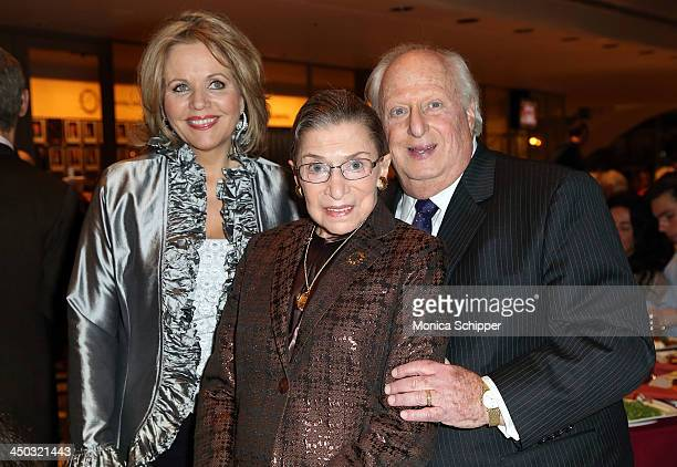 American soprano Renee Fleming Honorable Ruth Bader Ginsburg Associate Justice of Supreme Court of the United States and Barry Tucker attend Richard...