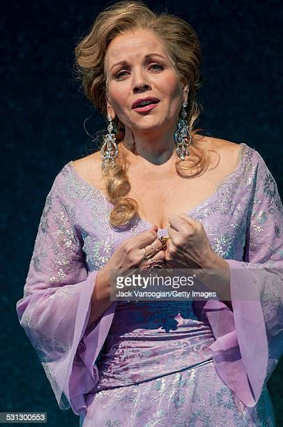 American soprano Renee Fleming on the second of two days of final dress rehearsals for the 125th Anniversary Gala of the Metropolitan Opera at...