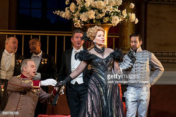 American soprano Renee Fleming performs at the final dress rehearsal prior to the premiere of the new Metropolitan Opera/Susan Stroman production of...