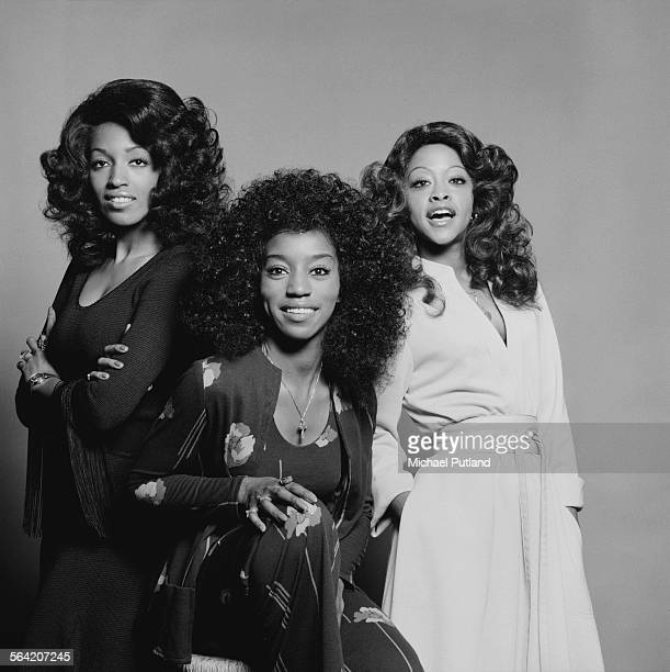American soul and disco vocal group The Three Degrees London 20th April 1976 Left to right Sheila Ferguson Fayette Pinkney and Valerie Holiday