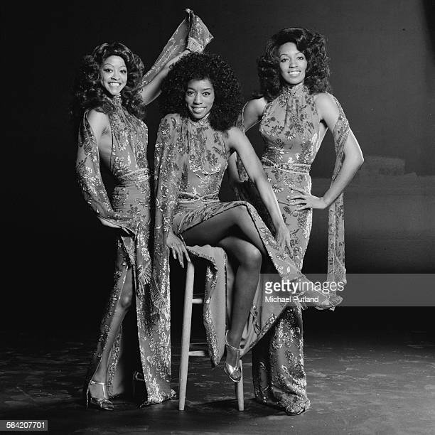 American soul and disco vocal group The Three Degrees London 20th April 1976 Left to right Valerie Holiday Fayette Pinkney and Sheila Ferguson
