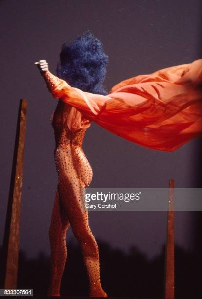 American Soul and Pop musician Diana Ross performs onstage in Central Park New York New York July 21 1983 The concert recorded for a television...