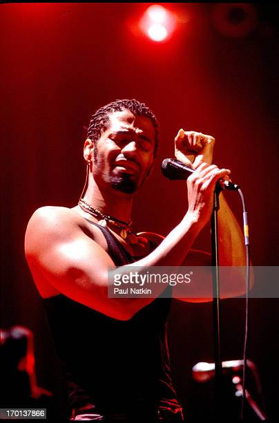 American soul and RB singer Eric Benet performs onstage Chicago Illinois May 1 1997