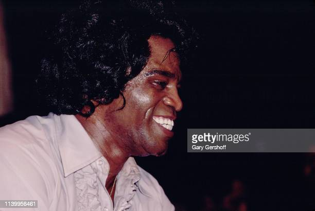 American Soul and RB singer James Brown performs on stage at My Father's Place Roslyn New York May 25 1980