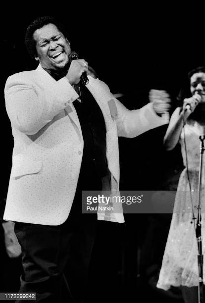American Soul and RB singer Luther Vandross at the Holiday Star Theater Merrillville Indiana July 30 1983