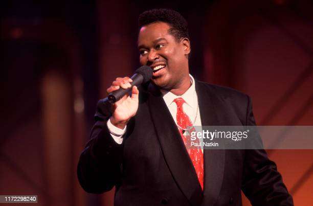 American Soul and RB singer Luther Vandross performs on an episode of the Oprah Winfrey Show Chicago Illinois June 28 1991