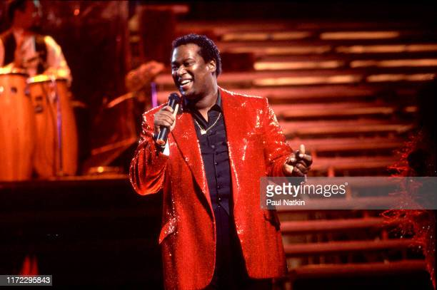American Soul and RB singer Luther Vandross performs onstage at the Aire Crown Theater Chicago Illinois January 12 1984