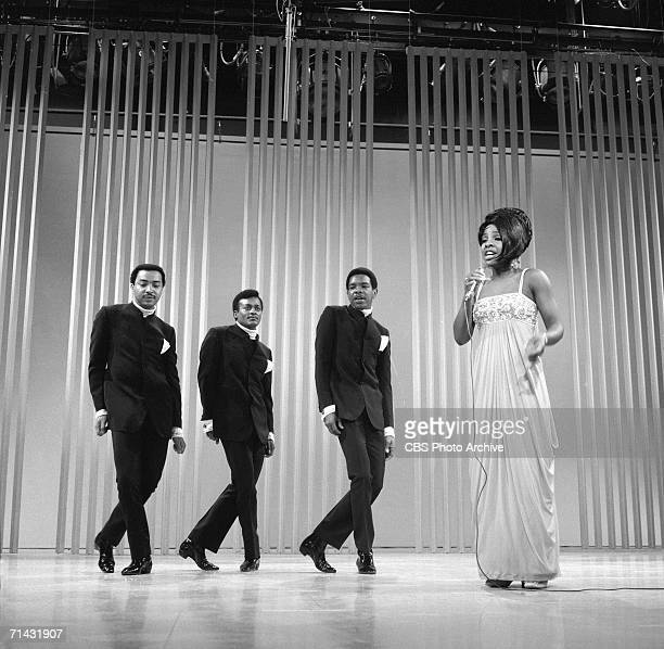 American soul music group Gladys Knight and the Pips perform on an episode of the CBS Television variety show 'The Ed Sullivan Show,' New York, New...