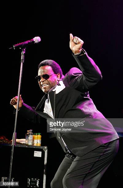 American soul music singer Al Green performs live on stage at the Hammersmith Apollo on November 6 2008 in London England