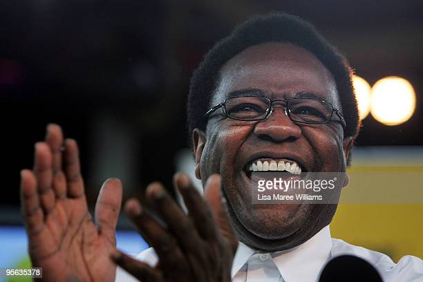American soul singer Al Green attends a press conference at The Famous Spiegeltent on January 8, 2010 in Sydney, Australia.