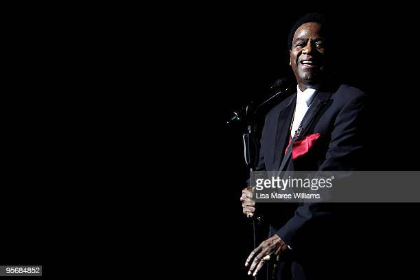 American soul singer Al Green performs on stage in concert as part of the Sydney Festival 2010 at the State Theatre on January 11, 2010 in Sydney,...