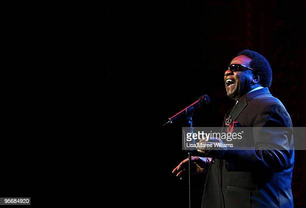American soul singer Al Green performs on stage in concert as part of the Sydney Festival 2010 at the State Theatre on January 11 2010 in Sydney...