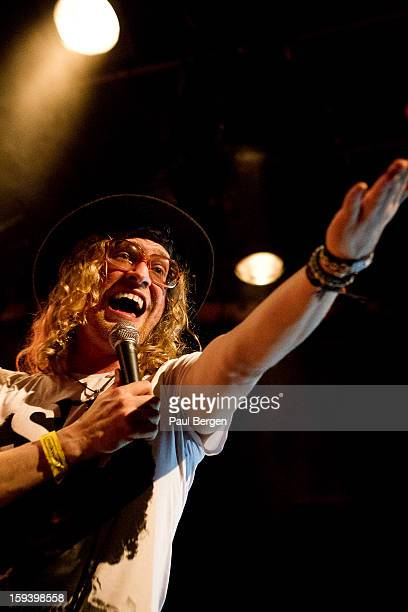 American soul singer Allen Stone performs on stage at Melkweg Amsterdam Netherlands 26 November 2012